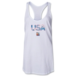 USA FIFA Women's World Cup Canada 2015(TM) Racerback Tank Top (White)