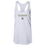 Ecuador FIFA Women's World Cup Canada 2015(TM) Racerback Tank Top (White)