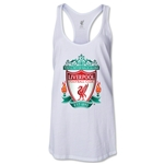 Liverpool Crest Women's Racerback Tank Top (White)