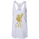 Liverpool Liver Bird Women's Racerback Tank Top (White)