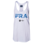 France Euro 2016 Women's Elements Racerback Tank Top (White)
