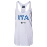 Italy Euro 2016 Women's Elements Racerback Tank Top (White)