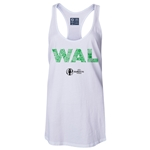 Wales Euro 2016 Women's Elements Racerback Tank Top (White)