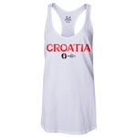 Croatia Euro 2016 Women's Core Racerback Tank Top (White)