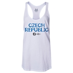 Czech Republic Euro 2016 Women's Core Racerback Tank Top (White)