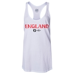 England Euro 2016 Women's Core Racerback Tank Top (White)