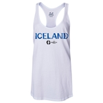 Iceland Euro 2016 Women's Core Racerback Tank Top (White)