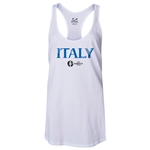Italy Euro 2016 Women's Core Racerback Tank Top (White)
