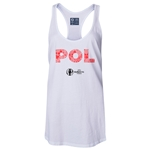 Poland Euro 2016 Women's Elements Racerback Tank Top (White)