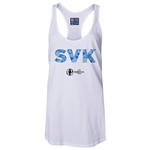 Slovakia Euro 2016 Women's Elements Racerback Tank Top (White)