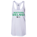Northern Ireland Euro 2016 Women's Core Racerback Tank Top (White)
