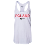 Poland Euro 2016 Women's Core Racerback Tank Top (White)