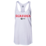 Romania Euro 2016 Women's Core Racerback Tank Top (White)