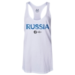 Russia Euro 2016 Women's Core Racerback Tank Top (White)