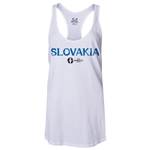 Slovakia Euro 2016 Women's Core Racerback Tank Top (White)