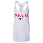 Spain Euro 2016 Women's Core Racerback Tank Top (White)