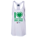 Northern Ireland Euro 2016 Women's Heart Racerback Tank Top (White)