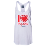 Poland Euro 2016 Women's Heart Racerback Tank Top (White)