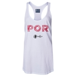 Portugal Euro 2016 Women's Elements Racerback Tank Top (White)