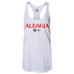 Albania Euro 2016 Women's Core Racerback Tank Top (White)