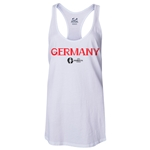 Germany Euro 2016 Women's Core Racerback Tank Top (White)