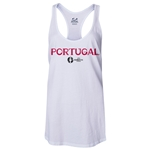 Portugal Euro 2016 Women's Core Racerback Tank Top (White)