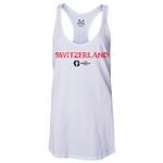 Switzerland Euro 2016 Women's Core Racerback Tank Top (White)