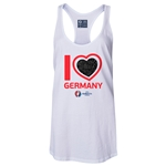 Germany Euro 2016 Women's Heart Racerback Tank Top (White)