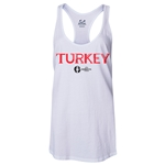 Turkey Euro 2016 Women's Core Racerback Tank Top (White)
