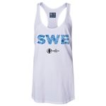 Sweden Euro 2016 Women's Elements Racerback Tank Top (White)