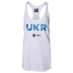 Ukraine Euro 2016 Women's Elements Racerback Tank Top (White)