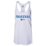 Sweden Euro 2016 Women's Core Racerback Tank Top (White)