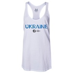 Ukraine Euro 2016 Women's Core Racerback Tank Top (White)