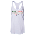Portugal UEFA Euro 2016 Champions Women's Tank Top (White)