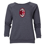 AC Milan Logo Women's Crewneck Fleece (Dark Gray)