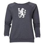 Chelsea Distressed Lion Women's Crewneck Fleece (Dark Gray)