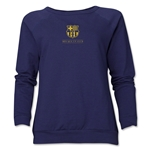 Barcelona Small Logo Women's Crewneck Sweatshirt (Navy)