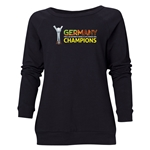 Germany FIFA U-20 Women's World Cup Canada 2014 Champions Women's Crewneck Fleece (Black)