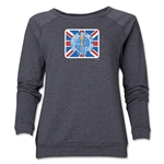 1966 FIFA World Cup Brazil Historical Emblem Women's Crewneck Fleece (Dark Grey)