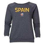 Spain FIFA Women's World Cup Canada 2015(TM) Women's Core Crewneck Sweatshirt (Dark Grey)