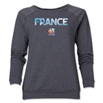 France FIFA Women's World Cup Canada 2015(TM) Women's Core Crewneck Sweatshirt (Dark Grey)