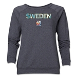 Sweden FIFA Women's World Cup Canada 2015(TM) Women's Core Crewneck Sweatshirt (Dark Grey)