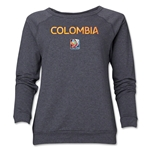 Colombia FIFA Women's World Cup Canada 2015(TM) Women's Core Crewneck Sweatshirt (Dark Grey)