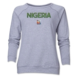 Nigeria FIFA Women's World Cup Canada 2015(TM) Women's Core Crewneck Sweatshirt (Grey)