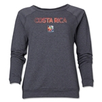 Costa Rica FIFA Women's World Cup Canada 2015(TM) Women's Core Crewneck Sweatshirt (Dark Grey)