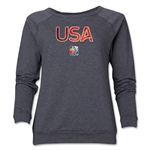 USA FIFA Women's World Cup Canada 2015(TM) Women's Core Crewneck Sweatshirt (Dark Grey)