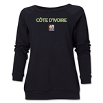 Cote d'Ivoire FIFA Women's World Cup Canada 2015(TM) Women's Core Crewneck Sweatshirt (Black)