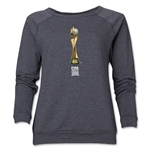 FIFA Women's World Cup Canada 2015(TM) Women's Trophy 2 Crewneck Sweatshirt (Dark Grey)