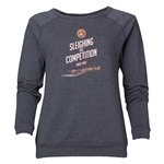 FC Santa Claus Sleighing the Competition Women's Crewneck Fleece (Dark Gray)
