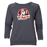 FC Santa Claus Animated Women's Crewneck Fleece (Dark Gray)